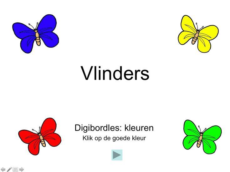 Digibordles kleuren/vlinders (kleuters)