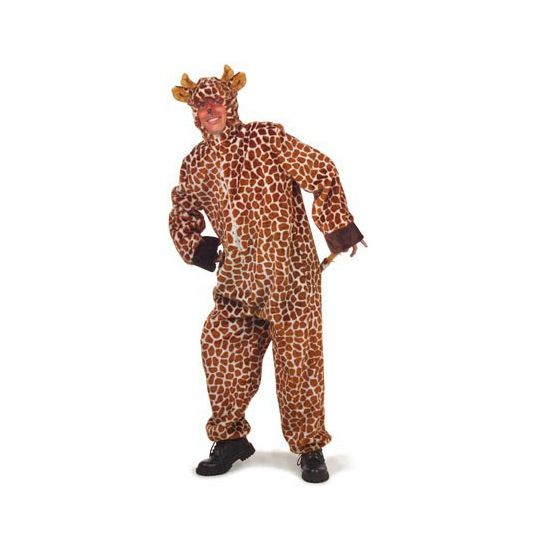 Giraffe verkleedkleding  Giraffe kostuum voor volwassenen. Dit giraffe kostuum is gemaakt van pluche materiaal en valt iets ruimer dan gemiddeld. Het pak heeft een rits aan de voorzijde en is in verschillende maten verkrijgbaar.  EUR 56.95  Meer informatie