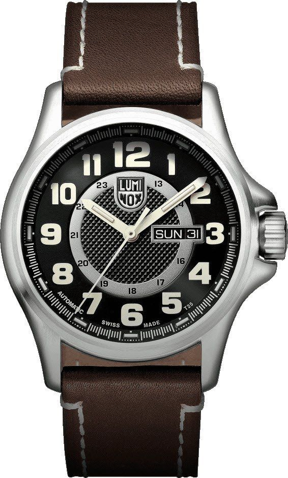 Luminox Watch Field Automatic Day Date 1800 Series #2015-2016-sale #add-content #bezel-fixed #black-friday-special #bracelet-strap-leather #brand-luminox #case-depth-12-8mm #case-material-steel #case-width-43mm #classic #date-yes #day-yes #delivery-timescale-1-2-weeks #dial-colour-black #gender-mens #movement-automatic #new-product-yes #official-stockist-for-luminox-watches #packaging-luminox-watch-packaging #sale-item-yes #style-dress #subcat-land #supplier-model-no-xl-1801 #vip-exclusive…