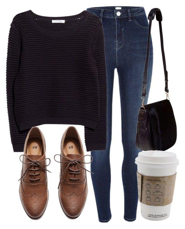 Sueter negro, pantalon claro nuevo, zapatos cafes