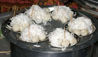 Mote Lone Yay Paw (Teething Cake) is a popular Burmese cake that is prepared in celebration of a baby's first tooth.