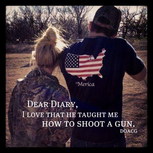 aww i wanna learn how to use a gun:): Country Boys, Dear Diaries, Country Girls, Amazing Boyfriends, Country Couple, Couple Shooting Guns, Country Life, Daddy And Guns, Girls Diaries