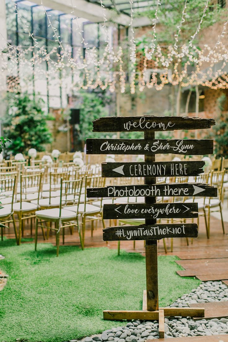 wedding reception photo booth singapore%0A A gorgeous rustic themed wedding signs with white calligraphy    Today u    s  featured couple managed to