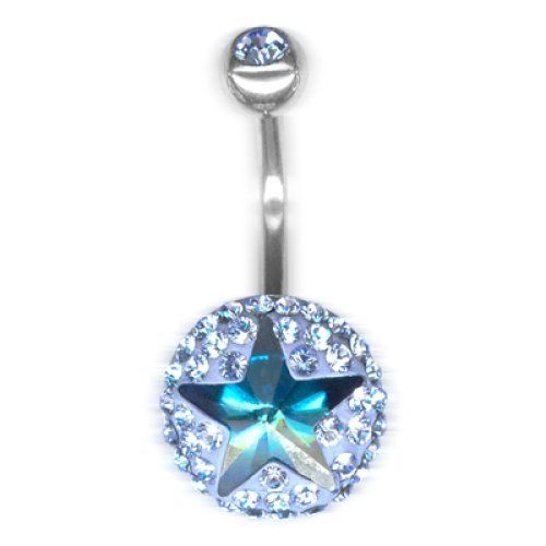 Piercing da Ombelico Crystal Evolution Classic Star Argento, Swarovski Azzurri e Verdi,Bananabell in Titanio Chirurgico Crystal Evolution http://www.amazon.it/dp/B00S9WV80C/ref=cm_sw_r_pi_dp_BbVavb0GMWJZ5