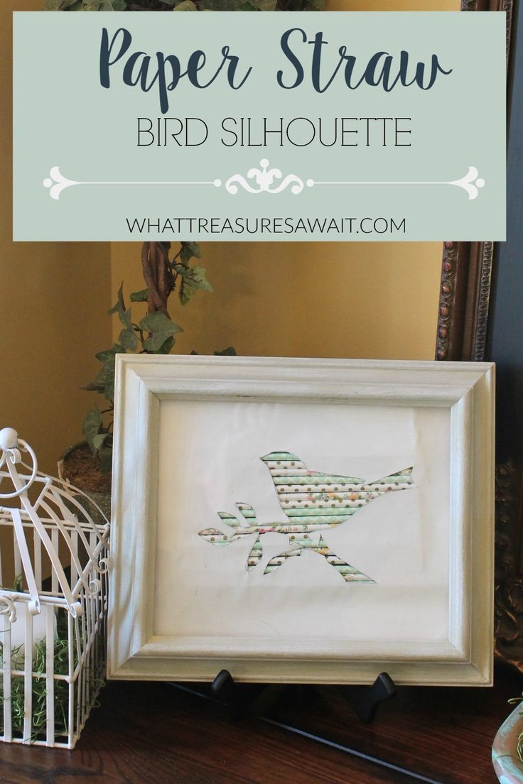Easy Spring Decor -Bird Sihouette with Paper Straws