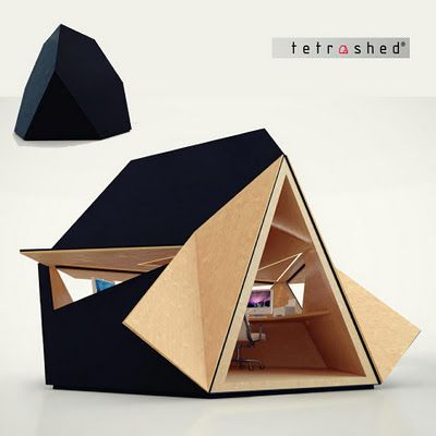 If It's Hip, It's Here: Check Out The Tetra Shed. A Modern Modular Office Pod Available Next Month.