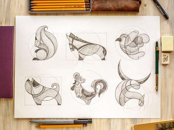 Animal Shapes : des logos animaux dans des cercles