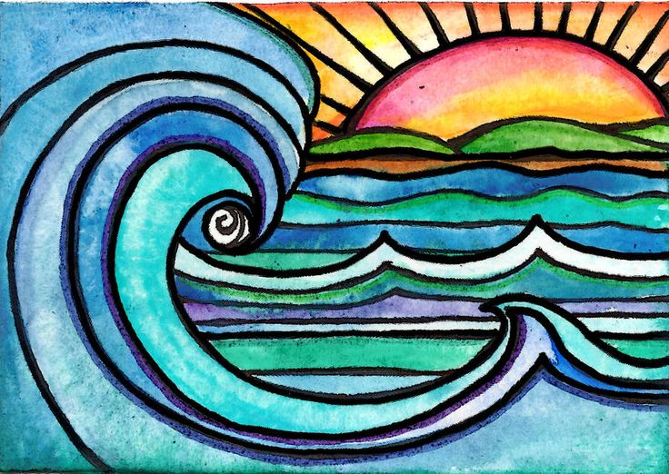Wild Surf Painting by Robin Mead - Wild Surf Fine Art Prints and Posters for Sale