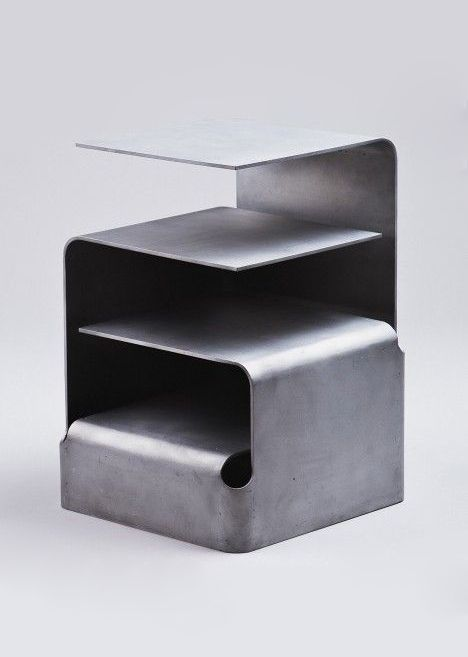 Nils Henrik Stensrud. recycled aluminium side table. Norway exhibition @ London Design Festival