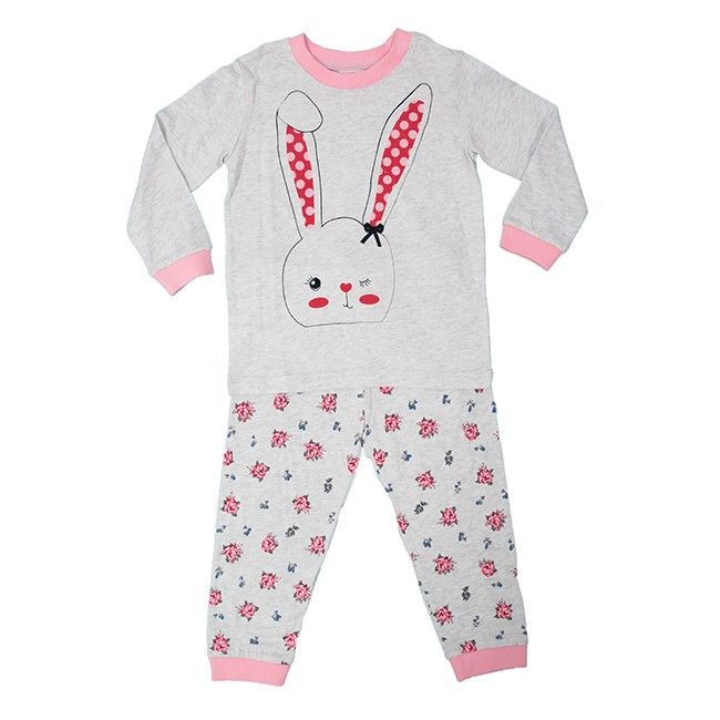 The adorable Milky Bunny Pyjamas in Silver Marle make a great gift for any little girl. Featuring a sweet bunny on the top and pretty florals on the pants, these lovely pyjamas will add a splash of spring to their winter wardrobe. Made from cotton, the Milky Bunny Pyjamas will be soft and comfortable against their skin, while still keeping them warm on even the coldest nights.Features:♡Comes with t-shirt and pants♡Pants have elastic waist♡Long sleeves and full legs for warmthThis gift is…