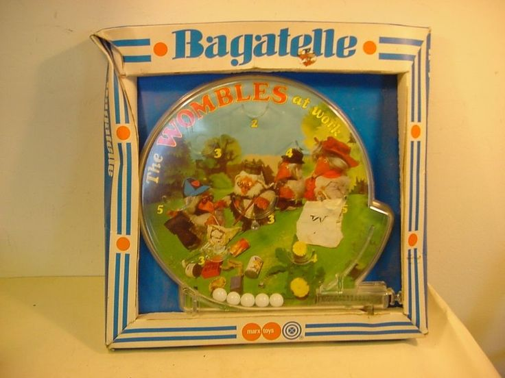 1970 s  The Wombles  Bagatelle TV Related Game by Marx Toys in Original Box