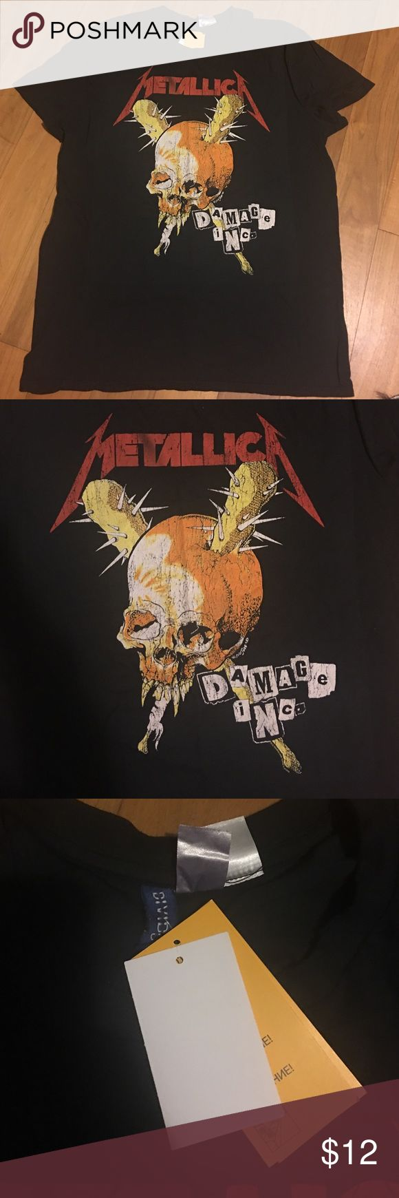 Metallica rock tee Sz xl Brand new with tags H&M Shirts Tees - Short Sleeve