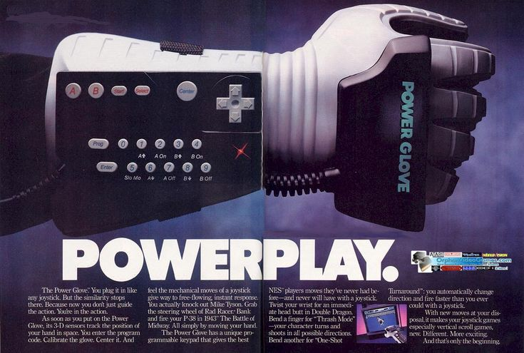 """I wanted the power glove soooo bad as a kid.  That kid that wore it in """"The Wizard"""" made it look so cool."""