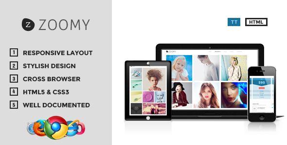 Zoomy - Professional Photography HTML Theme