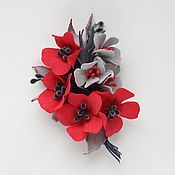 Белые розы. Веточка светло-лиловых роз из фоамирана - купить или заказать в интернет-магазине на Ярмарке Мастеров | Брошь ручной работы с розочками. Лепестки …