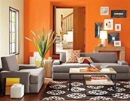 Woonkamer Grijs Geel : Kleur van de week oranje woonstijladvies