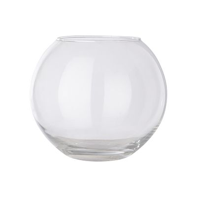 Asda Glass Bowl Vase Round Fishbowl Clear Weddings Glass Wine Glass Vase