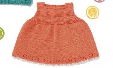 Tijdschrift Baby 80 Lente / Zomer   51: Baby Jurk   Oranje