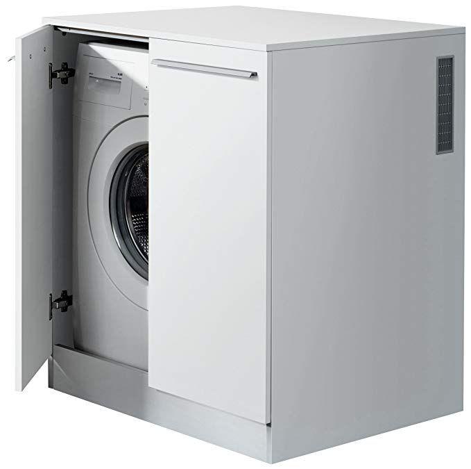 Fackelmann Waschmaschinenschrank Badschrank Mit Luftungsgitter Masse B X H X T Ca 71 X 91 X 70 Cm Hochwertiger Badezimmerschrank Korpus Weiss Front Weiss Hoc