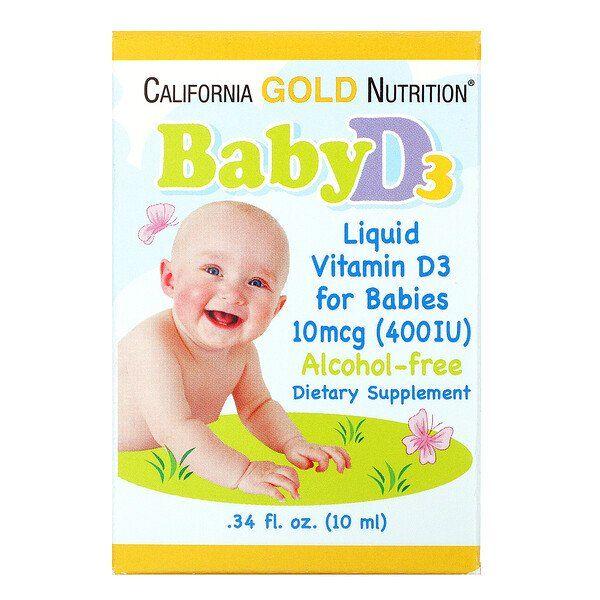 California Gold Nutrition قطرات فيتامين د3 للرضع 400 وحدة دولية 34 أونصة سائلة 10 مل Iherb In 2021 Baby Vitamins Liquid Vitamins Vitamin D3 Drops