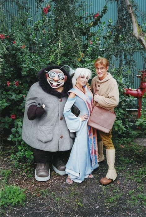 Disney Atlantis: The Lost Empire. Mole, Queen Kida, and Milo