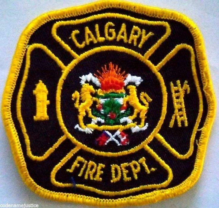 CALGARY, ALBERTA, CANADA FIRE DEPARTMENT PATCH - NEW CALGARY FIRE DEPARTMENT.