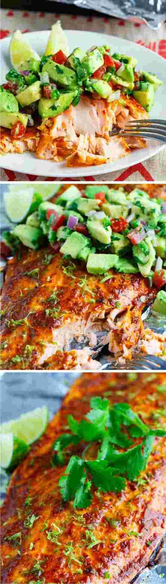 Chipotle Lime Salmon - garlic, healthy, lime, pepper, recipes, salmon