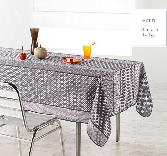 Beżowy nowoczesny obrus na stół do kuchni