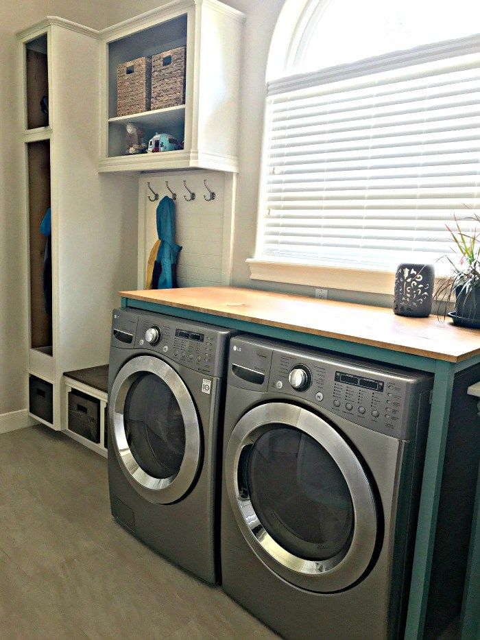Diy Table Over Washer And Dryer Free Build Plan Abbotts At Home Laundry Table Laundry Folding Tables Laundry Room Storage Shelves