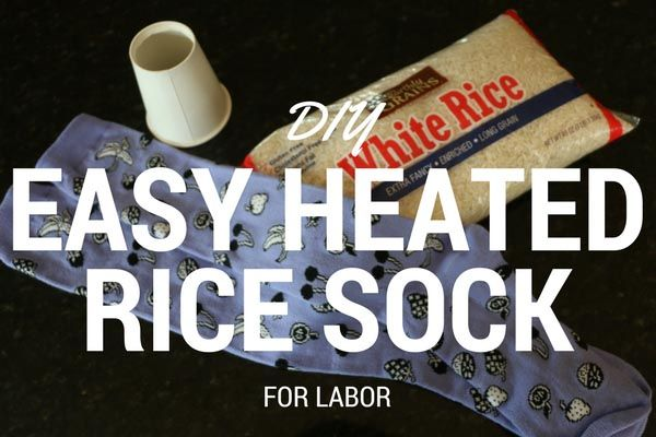 Make your own heated rice sock to use during labor following these 3 simple steps. DIY easy & inexpensive heated rice sock!