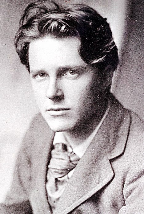 "Rupert Brooke- my all time favorite dead poet crush.""If I  should die, think only this of me: That there's some corner of a foreign field, That is forever England."""