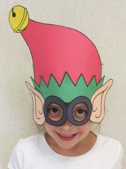 Christmas Elf Sentence Strip Hat Mask