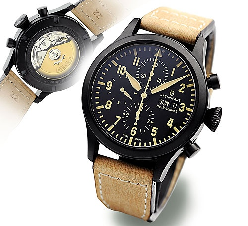 Steinhart Nav B-Chrono II black DLC.. Chronographs. — Reminds me of the B that I like. €820