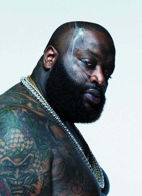 """Rick Ross (born William Leonard Roberts II), American former correction officer, rapper, ghostwriter & founder of the record label Maybach Music Group. He derived his stage name from the drug trafficker """"Freeway"""" Rick Ross, to whom he has no connection and who later claimed offense that his name & identity were being used after the scandal broke about the rapper's CO past. His hits include Hustlin', Maybach Music 2, The Boss, Aston Martin Music, B.M.F. (Blowin' Money Fast) & You the Boss."""