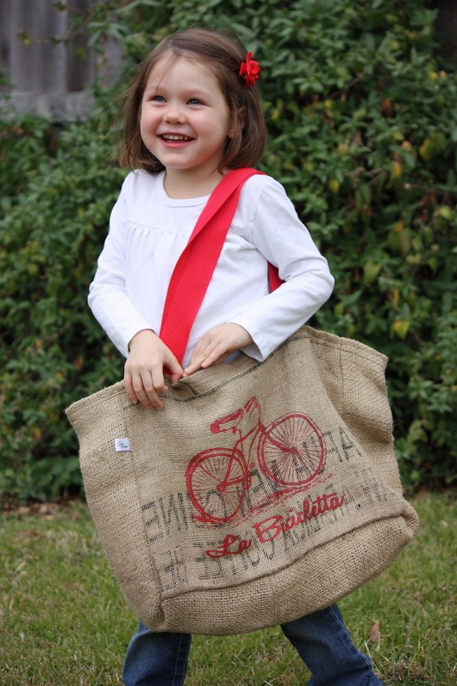 Giveaway Winner!!! La Bicicletta Tote Bag Made From Recycled Coffee Sacks