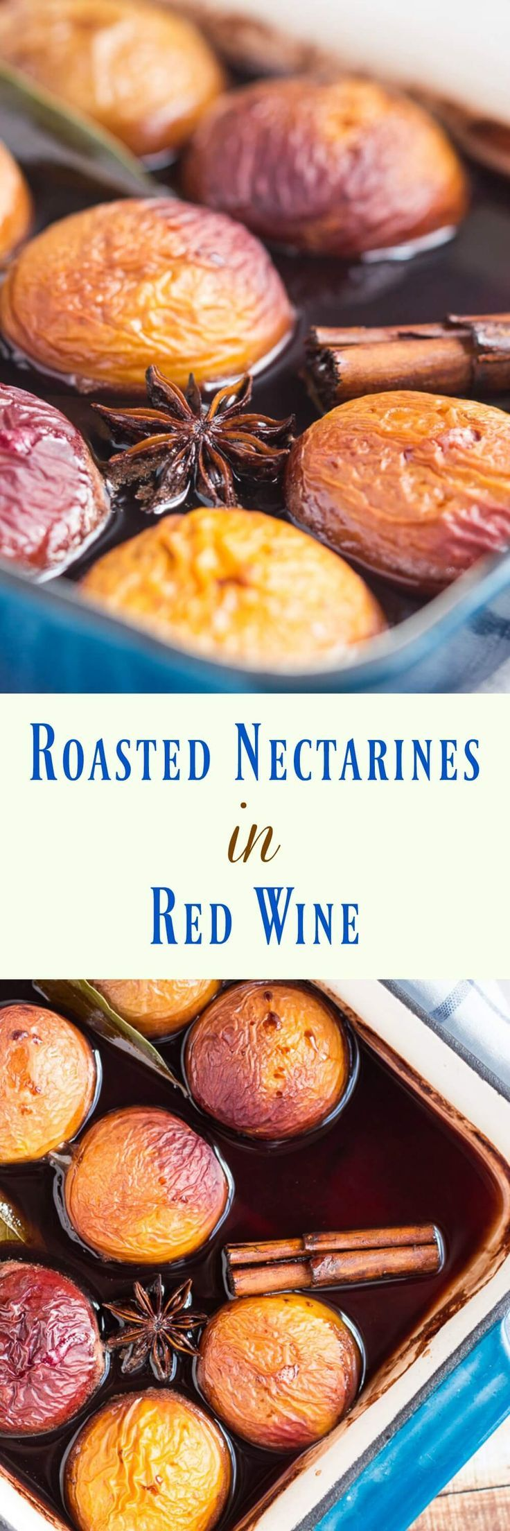 Nectarines in red wine are the perfect make-ahead dessert for summer entertaining.    Healthy | Recipes | Gluten Free | Vegan | Vegans