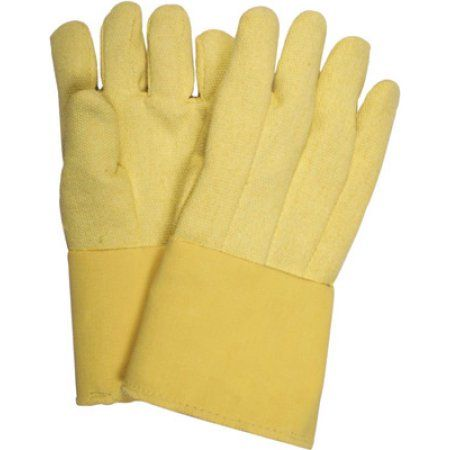 National Safety Apparel Large Thermobest 22 Ounce Kevlar Reverse Wool Lined Heat Resistant Gloves With 14 inch Gauntlet Cuff
