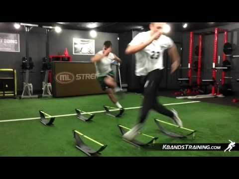 Football agility Knee Drive Step Over | Football Speed Training | Football Leg Resistance Bands - YouTube