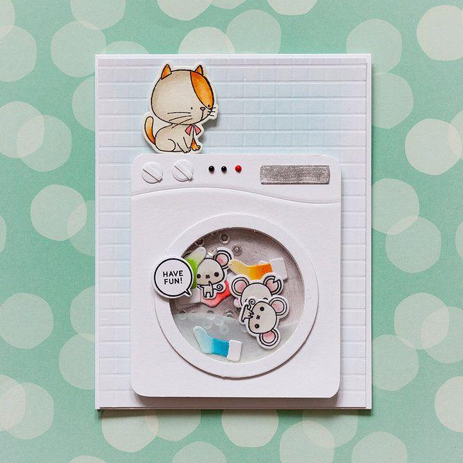 Card: Washing machine shaker card