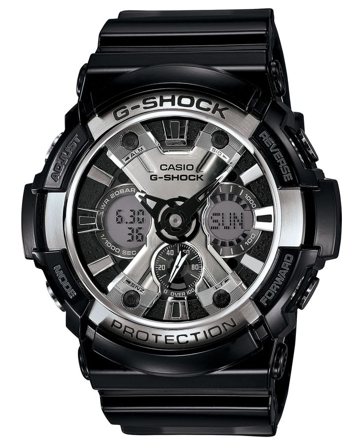G-Shock Watch, Men's Analog-Digital Black Resin Strap 53mm GA200BW-1A - All Watches - Jewelry & Watches - Macy's