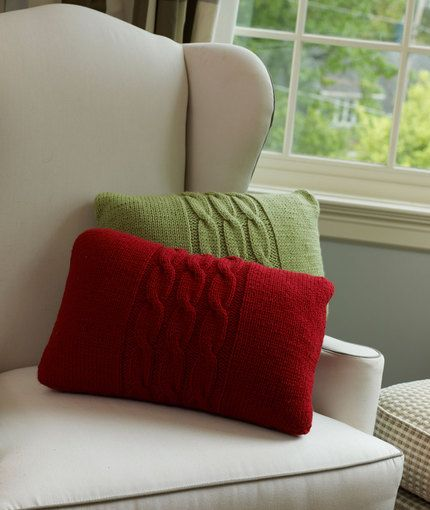 Cabled Pillows Knitting Pattern | Red Heart