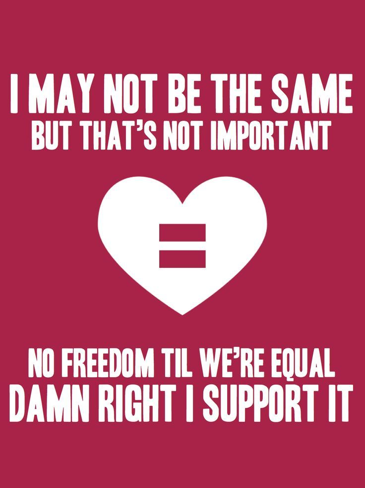 I may not be the same but that's not important No freedom till we're equal. Damn right I support it. Same love. ~Macklemore and Ryan Lewis. #samelove