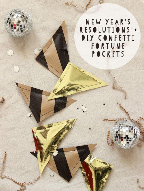 DIY NYE Confetti-Filled Fortune Pockets