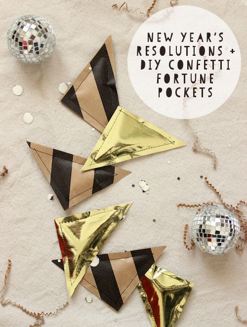DIY NYE Confetti-Filled Fortune Pockets