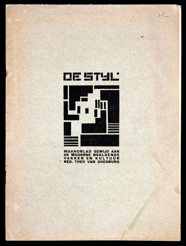 Front cover of De Stijl, periodical, edited by Theo van Doesburg, 1919.