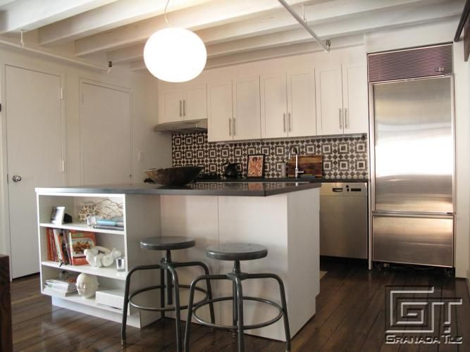 Fez in the City: Cement Tile for a Manhattan Kitchen
