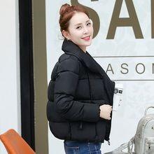 2016 Yeni Moda Kısa Kış Ceket Kadınlar Pamuk Coat Kadın Kabanlar Eğik Fermuar İnce Aşağı Pamuk Ceket Kız Parka YM396(China (Mainland))