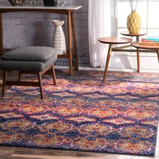 Shop For NuLOOM Bohemian Damask Navy Rug (8u0027 X 10u0027). Get