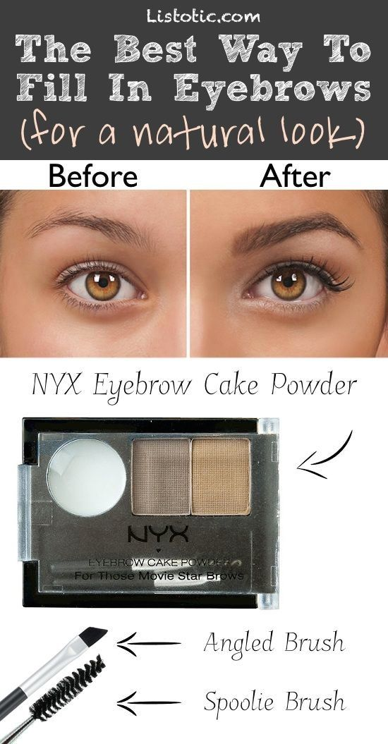 3. How to properly fill in your eyebrows.