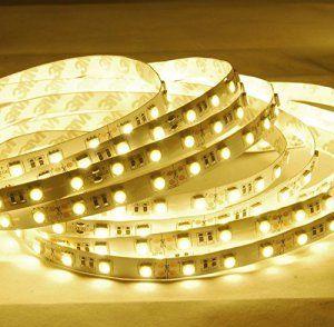 Minger Bande Lumineux LED RGB 5M/16.4ft, Ruban LED 5050 SMD 300 LEDs, Non Étanche IP20 Kit Complet, avec RF Télécommande Sans Fil et 12V 6A…